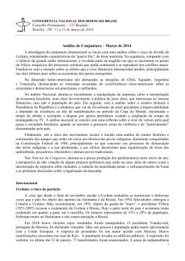 Análise de Conjuntura – Março de 2014