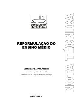 Reformulação do Ensino Médio