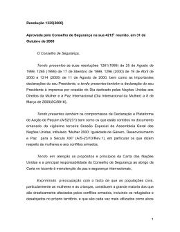 Resolução 1325 do CSNU