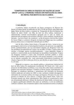 """""""COMPENDIO DA OBRA DA RIQUEZA DAS NAÇÕES DE ADAM"""