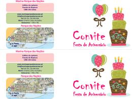 Convite Animação Menina - Marina Parque das Nações