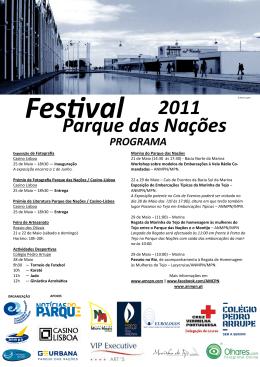 Programa do Festival do Parque das Nações