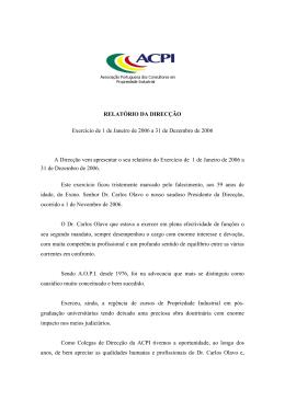 Relatório actividades 2006