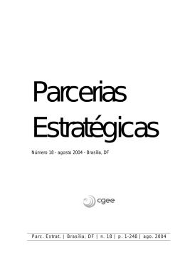 Parcerias Estratégicas No.18 - Agosto/2004