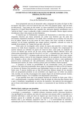 uma imigração peculiar - Fundação Casa de Rui Barbosa