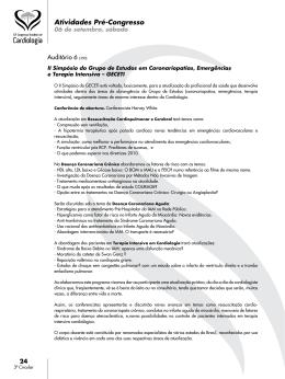 atividades pré-congresso  - 70° Congresso Brasileiro de