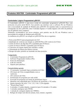 Produtos DEXTER - Dexter Controladores Programáveis