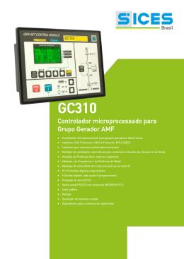 Controlador microprocessado para grupos geradores stand