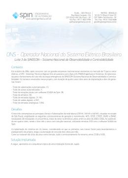 ONS - Operador Nacional do Sistema Elétrico Brasileiro