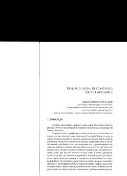 revisão judicial de contratos entre empresários - BDJur