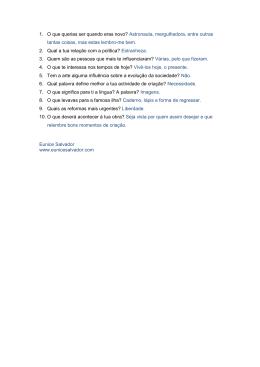 10 perguntas - ProjectoMAP