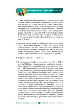 Brasil Republicano – 1964-1969 Aula 78 1. O plano estabelecia