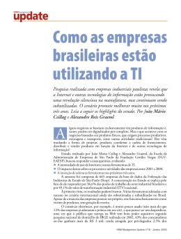 Pesquisa realizada com empresas industriais paulistas