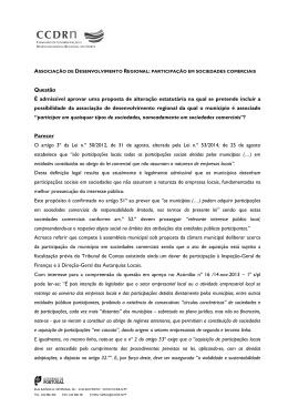participação em sociedades comerciais - CCDR-N