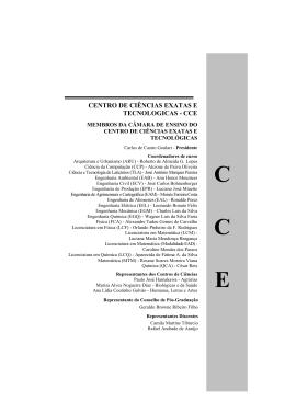 Membros da Câmara de Ensino do CCE