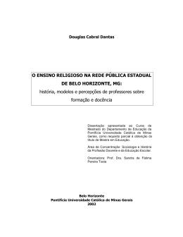O ENSINO RELIGIOSO NA REDE PÚBLICA ESTADUAL DE BELO