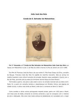 João José dos Reis Conde de S. Salvador de Matosinhos