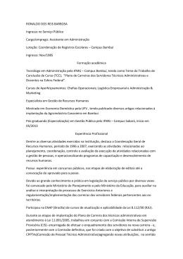 Perfil Ronaldo dos Reis Barbosa