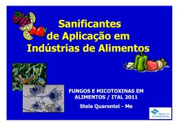 Sanificantes de Aplicação em Indústrias de Alimentos