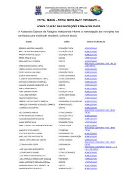 Edital 02 2014 HOMOLOGACAO DE INSCRICOES