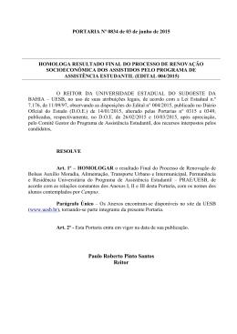 Portaria nº 0834/2015
