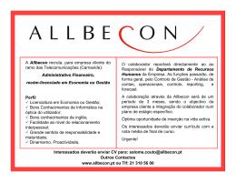 A Allbecon recruta, para empresa cliente do ramo das
