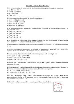 Geometria Analítica – Circunferências