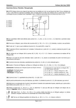 Exercicios Extras 01 - GA - CEMA