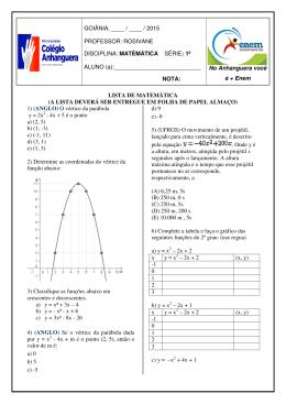 matemática rosivane p1 ii bimestre