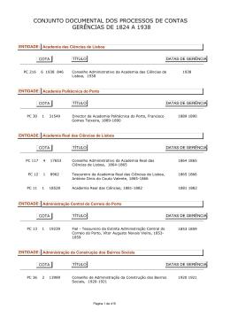 Conjunto documental Processos de Contas 1824-1938