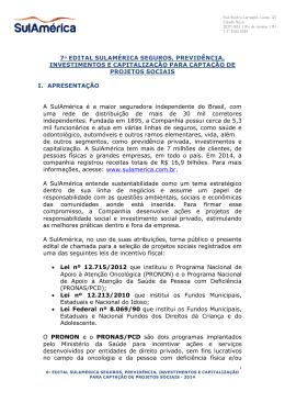 7º edital sulamérica seguros, previdência, investimentos e