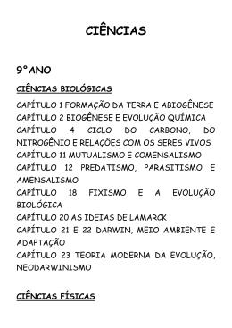 CIÊNCIAS - 9°ANO