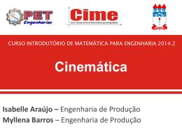 Cinemática - PET Engenharias