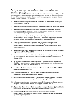 As demandas sobre os resultados das negociações nos biscoitos
