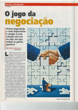 O jogo da Negociação