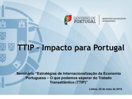 2. Impacto económico do TTIP em Portugal