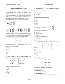 Lista de Matemática Lista de Matemática