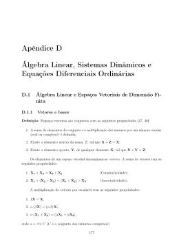 Apêndice D Álgebra Linear, Sistemas Dinâmicos e Equações