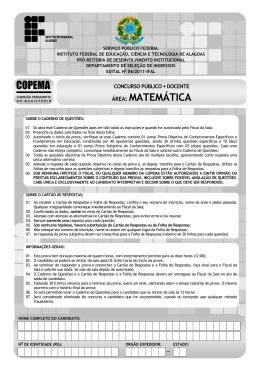 área: matemática copema - Concursos IFAL