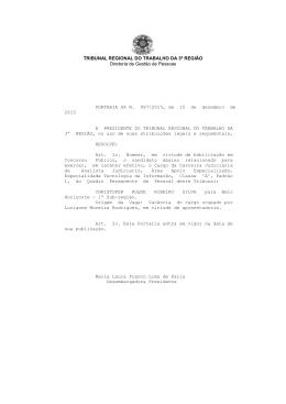 GP N. 997/2015 - TRT da 3ª Região