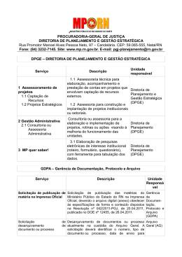 PROCURADORIA-GERAL DE JUSTIÇA DIRETORIA DE
