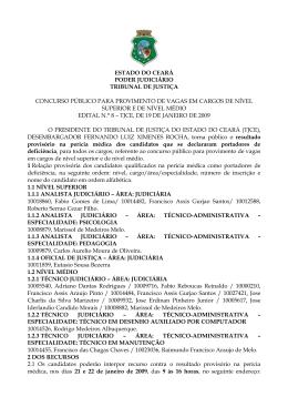 Edital - Tribunal de Justiça do Estado do Ceará