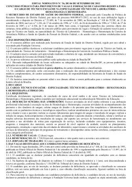 edital normativo n.º 36, de 06 de setembro de 2012 - Coren-DF