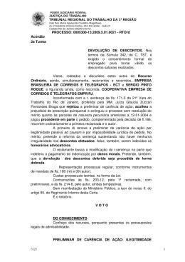 TRIBUNAL REGIONAL DO TRABALHO DA 1ª
