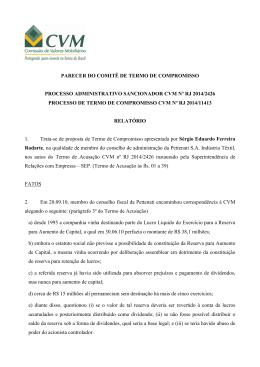 PARECER DO COMITÊ DE TERMO DE COMPROMISSO