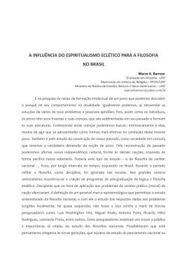 a influência do espiritualismo eclético para a filosofia no brasil