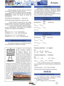 termoquÍmica Diagrama de energia Variação de entalpia em uma