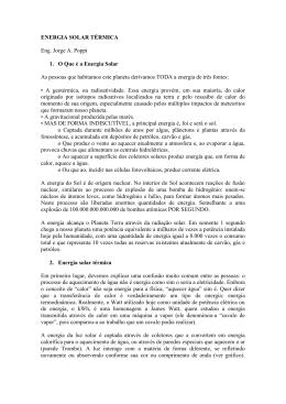 Solar Térmica – Eng. Jorge A. Poppi