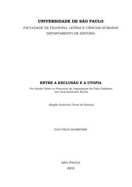 UNIVERSIDADE DE SÃO PAULO - Dados e textos sobre a Luta