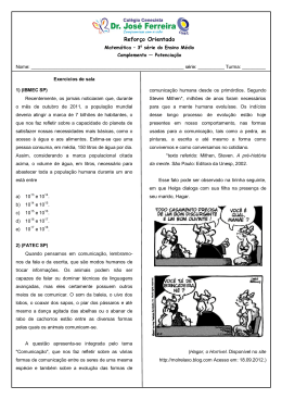 Reforço Matemática EM - Potenciação